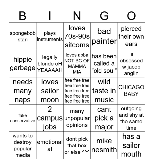 how much are you like me Bingo Card