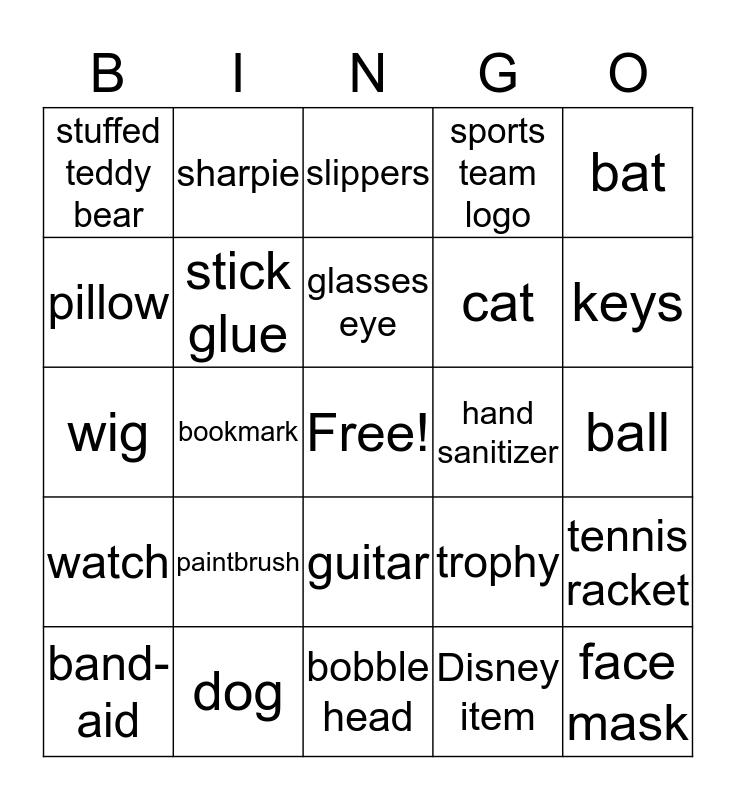 LUTHER ZOOM Scavenger Hunt Bingo Card