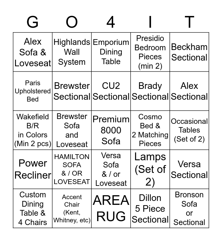 BINGO BASSETT STUD - BRAD RICE Bingo Card