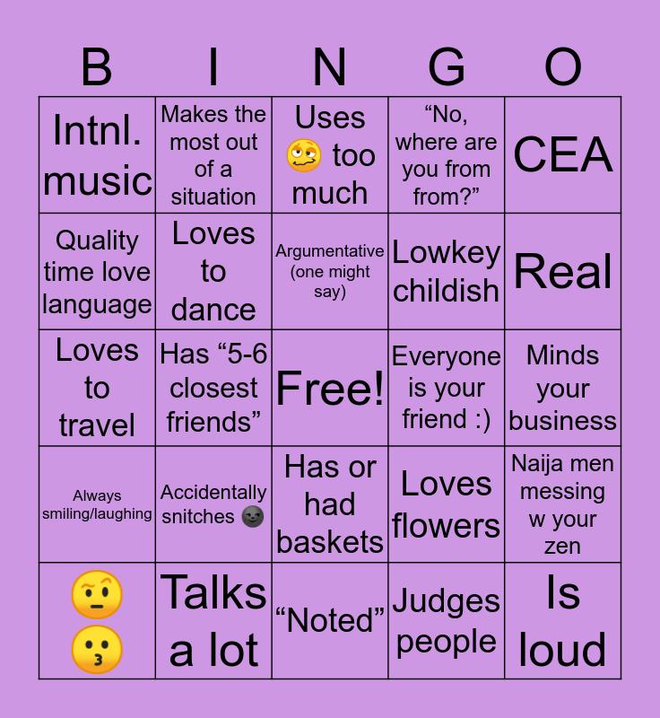 🤧🌻🤘🏾DEYDEY 🥵🤩🥰 Bingo Card