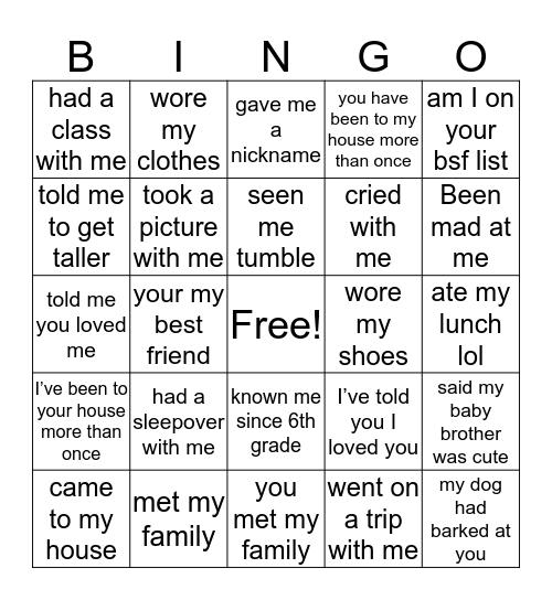 C A I L E E Bingo Card