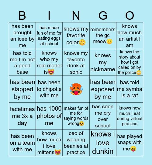 laila's bingo🥰 Bingo Card