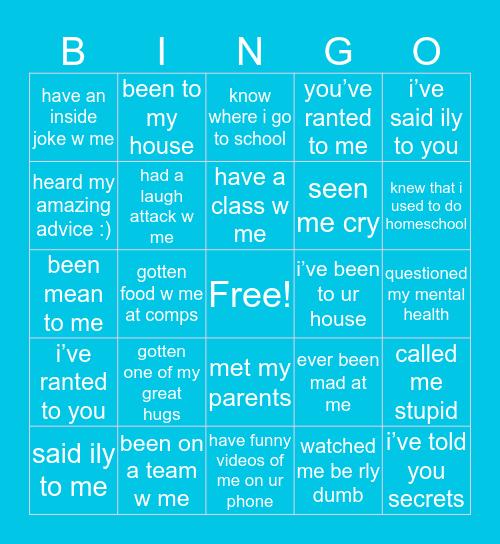 shelby's bingo Card