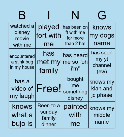 MELS BINGOO Bingo Card