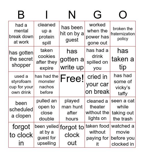 Cobb Bingo Card