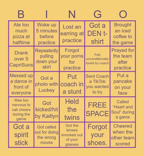 HOUGHTON CHEER Bingo Card