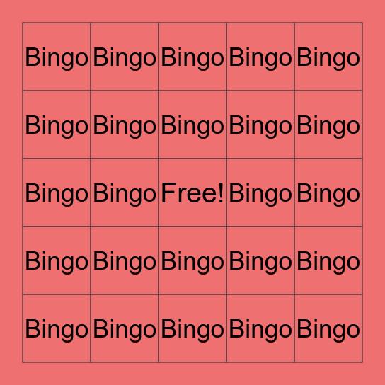 Bingo Bingo!! Bingo Card