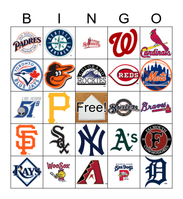 BASEBALL Bingo Card