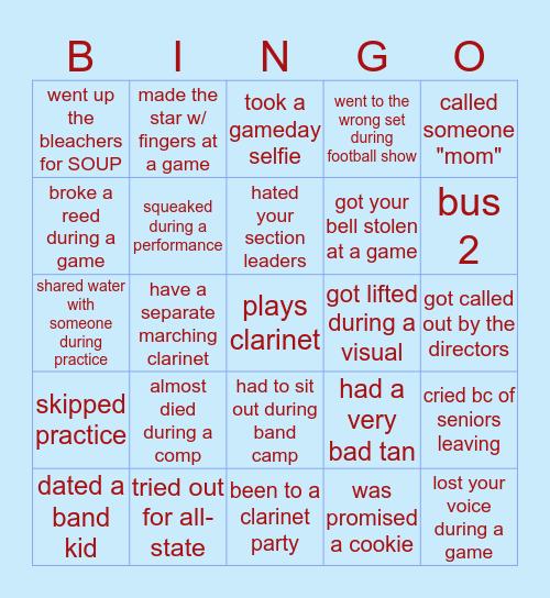 Clarinet Bingo! Bingo Card