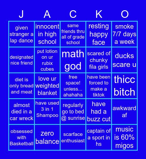 r u jack feld? u def r if u... Bingo Card