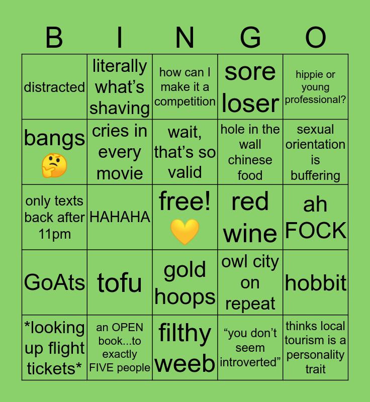 🌻 JU'S 🌻 Bingo Card