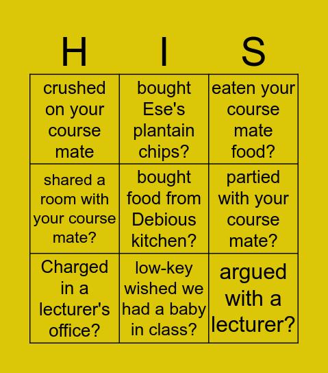 Sublime'19 Bingo Card