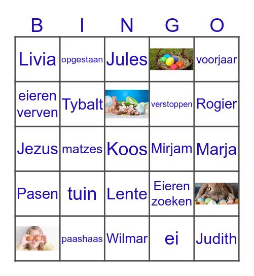 Paas Bingo Card