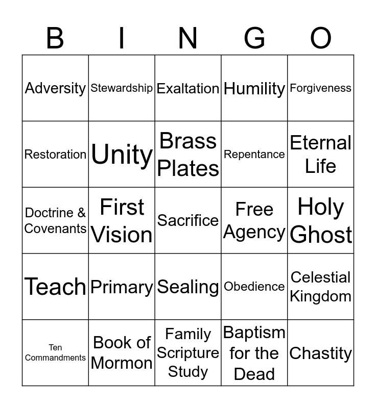 LDS Bingo Card