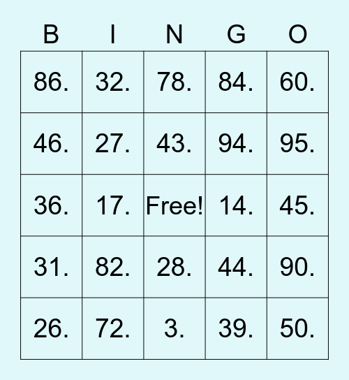 Happy Hour Bingo! Bingo Card