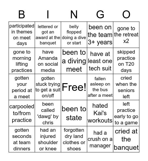 MVGSD Bingo Card