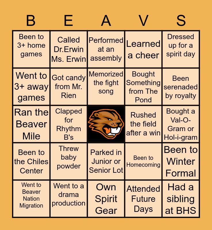 Beaverton High Bingo Card