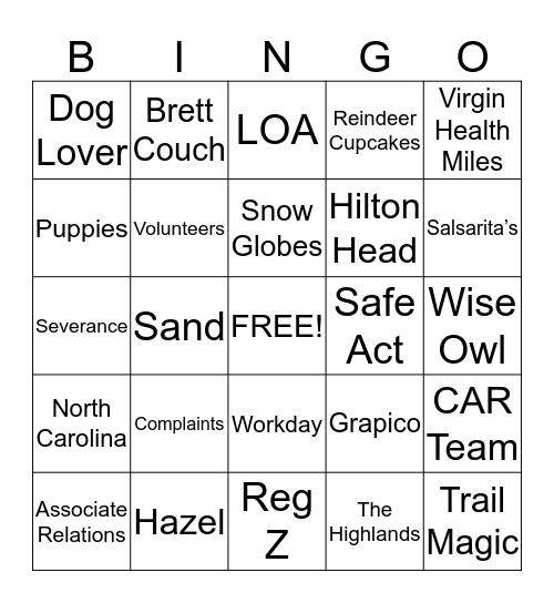Michelle Bingo Round 3 Bingo Card