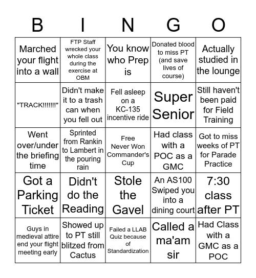 Det 220 Bingo Card