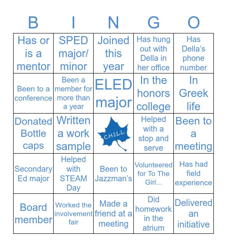 C.H.I.L.L. Bingo! Bingo Card