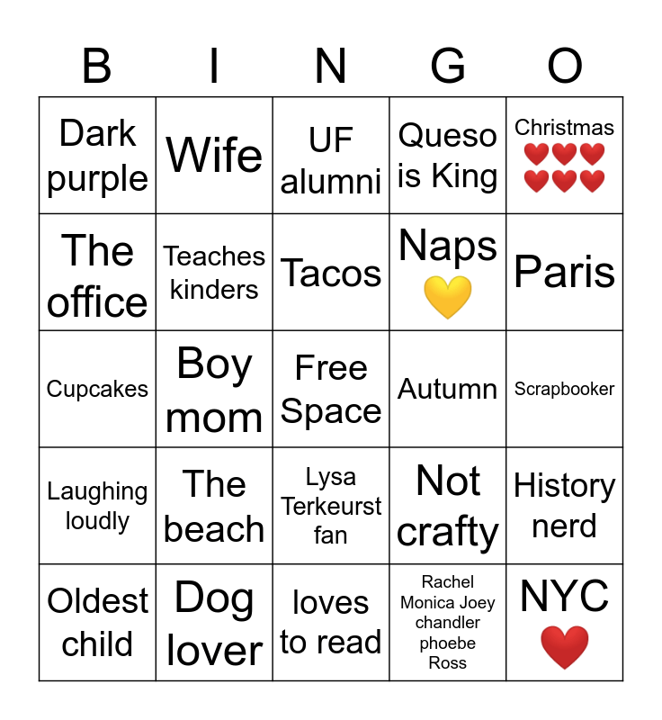 How Similar Are You to Bingo Card