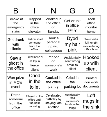Never Have I Ever... Mindshare edition! Bingo Card