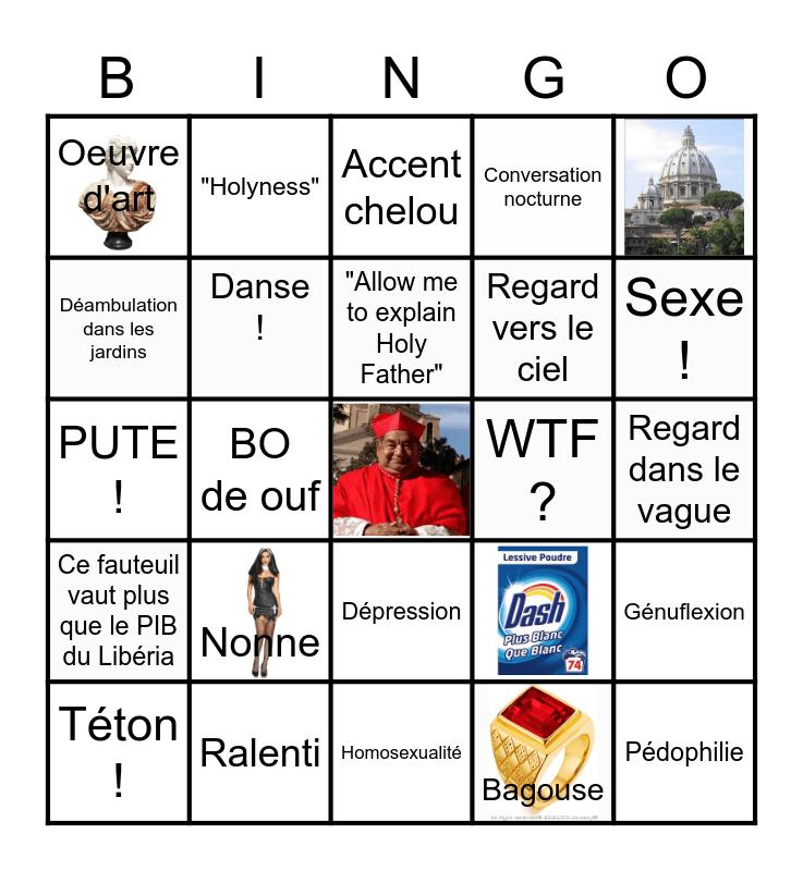Bingo The New Pope Bingo Card
