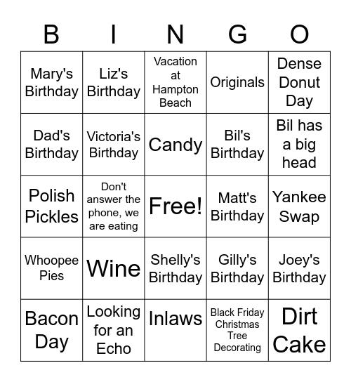 Sinister 6 BINGO #1 Bingo Card