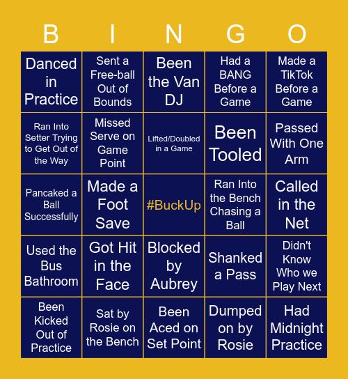 #BuckUp Bingo Card