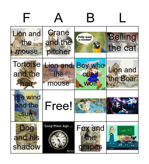 Fable Bingo Card