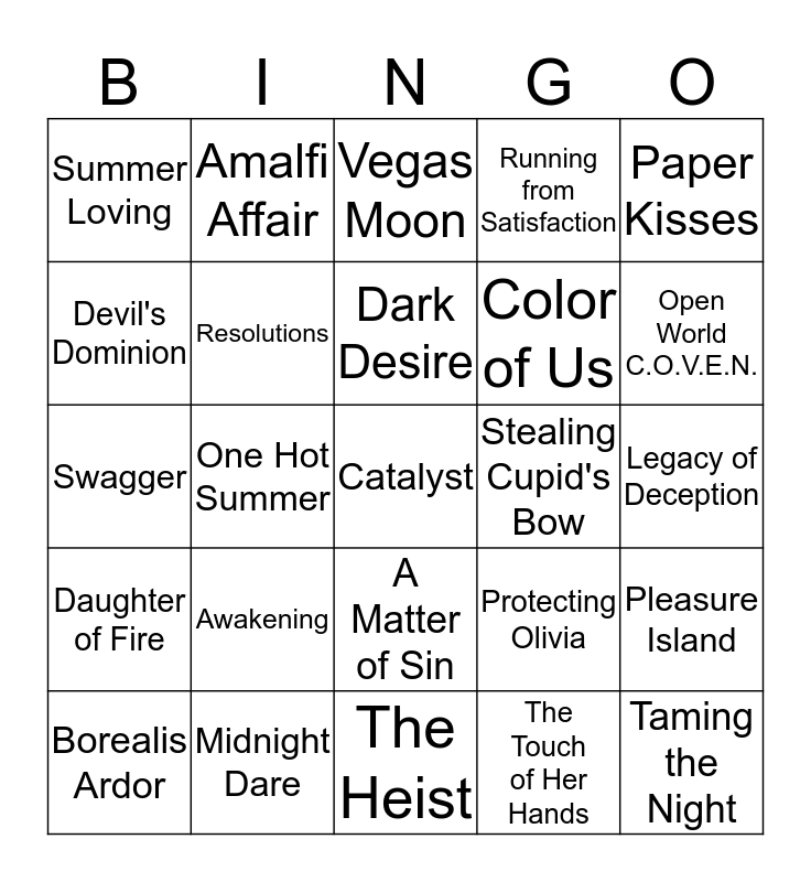 Hot Mojave Knights Bingo Card
