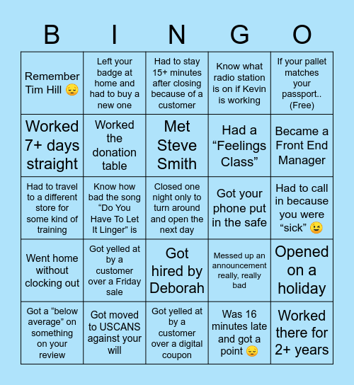 Food City 😤 Bingo Card