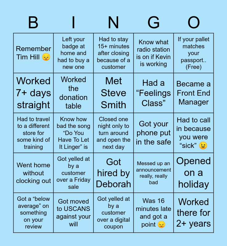 Food City 😤 Bingo Card