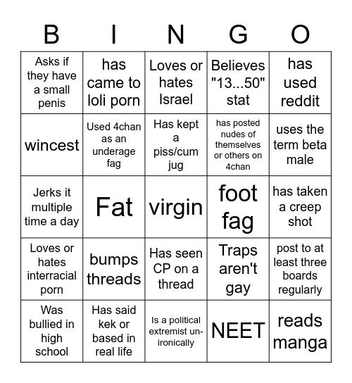 /b/ingo Bingo Card