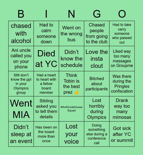 KCYLNA BOARD Bingo Card