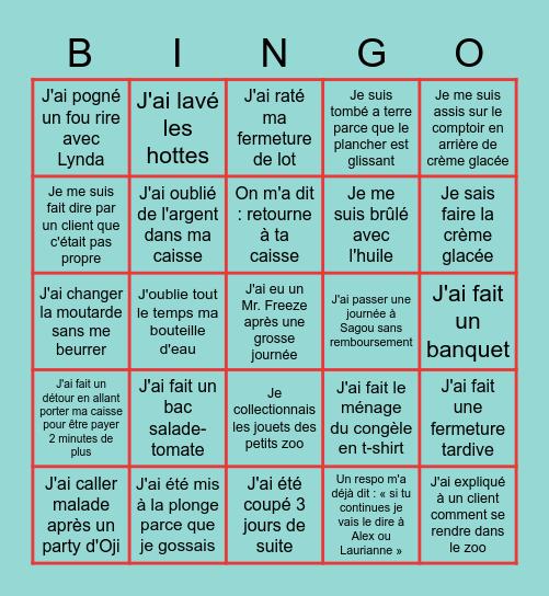 Oji Bingo Card
