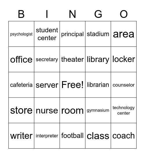 Master ASL Unit 5 Beginnning Bingo Card