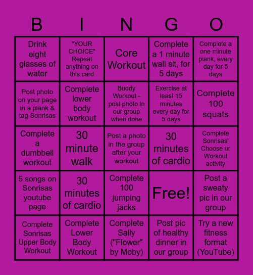 Sonrisas Fitness BINGO Card