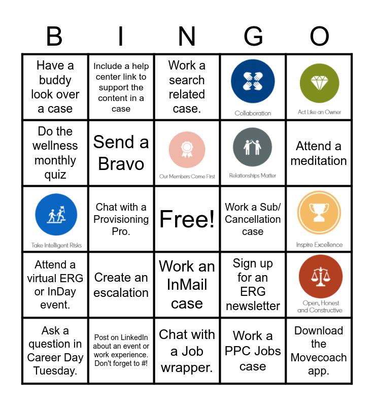 RepIn Bingo Card