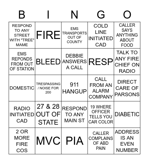September 15 2014 - October 15, 2014 Bingo Card