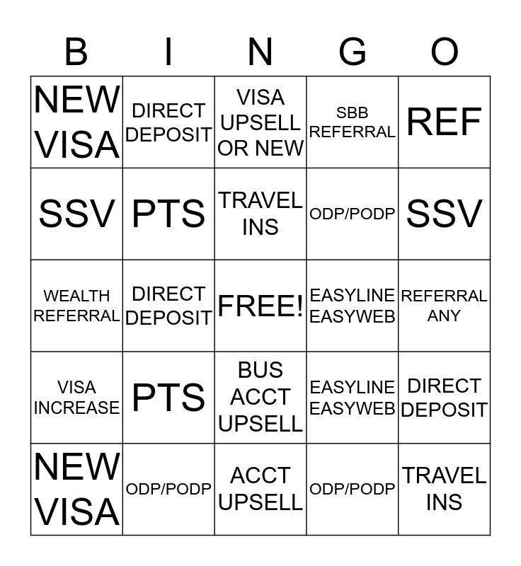 Liz Bingo Card