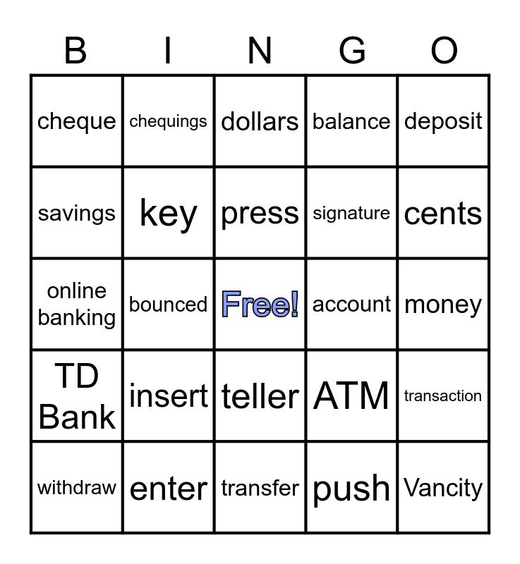 LINC 2 Banking Bingo Card