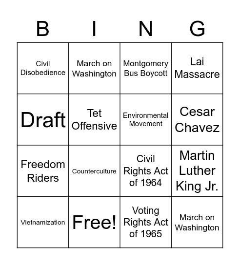 Unit 12 Lesson 2 Review Bingo Card
