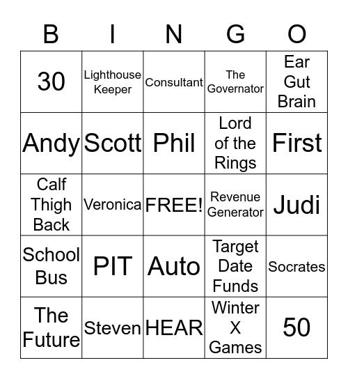 B-I-N-G-O Bingo Card