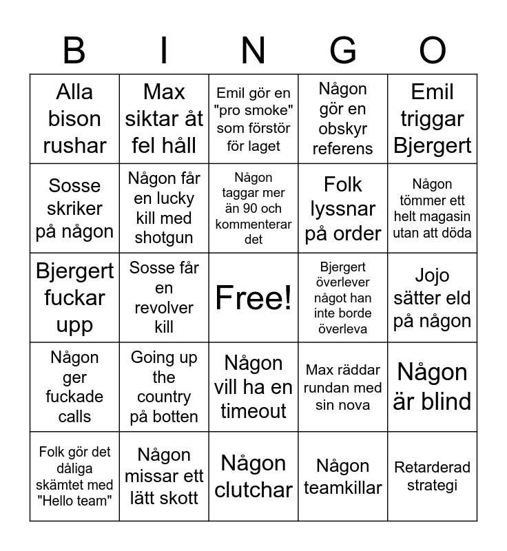 Cs bingo Card