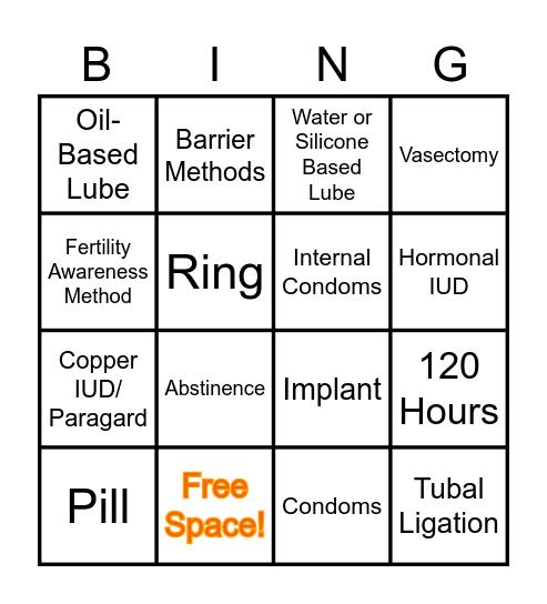 Birth Control Bingo! Bingo Card