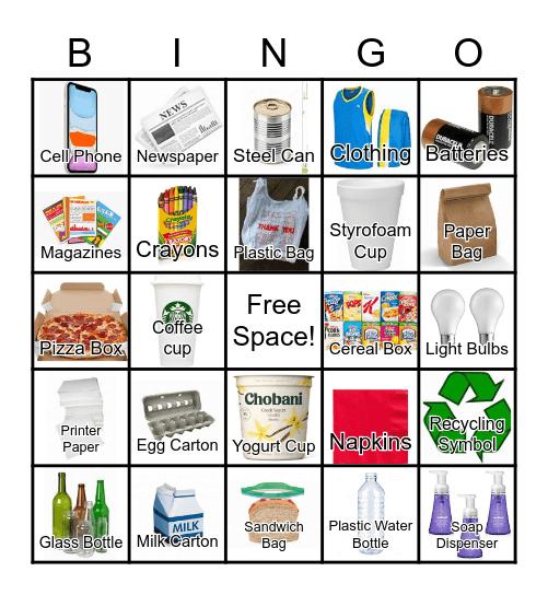 RECYCLING Bingo Card