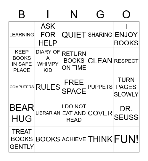 Barlow Library Bingo Card