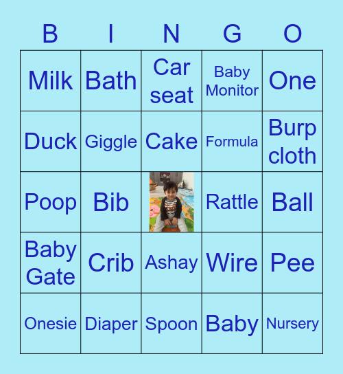 Ashay turns One Bingo Card