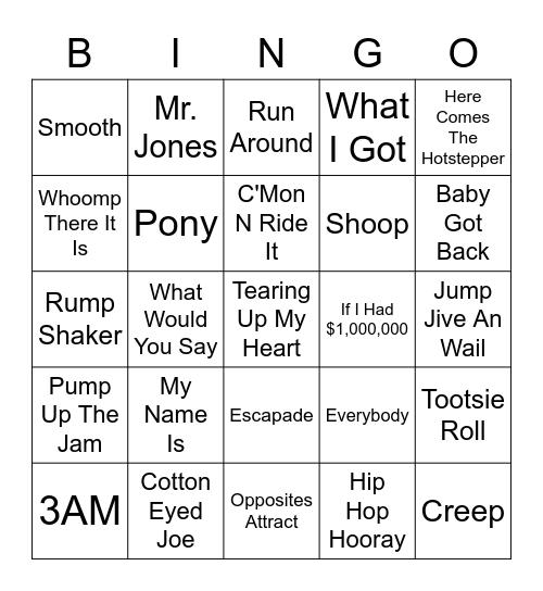 Ultimate 90's Vol. 1 Bingo Card